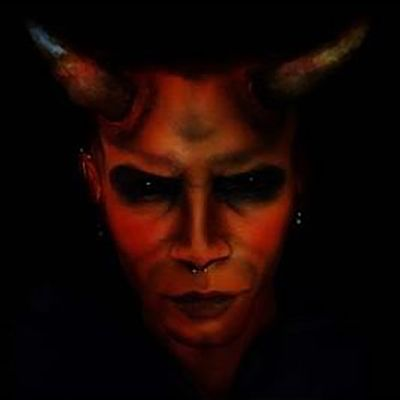 This DIY makeup guide will show you how to create an evil horned demon look for Halloween, with a contoured face that's as red as The Devil's.