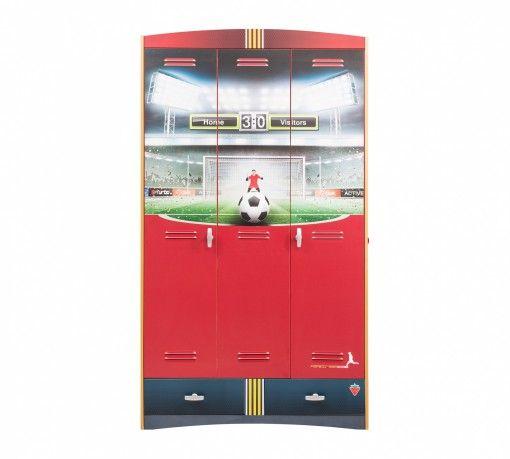 Focis 3 ajtós Szekrény #gyerekbútor #bútor #desing #ifjúságibútor #cilekmagyarország #dekoráció #lakberendezés #termék #ágy #gyerekágy #foci #football #szekrény