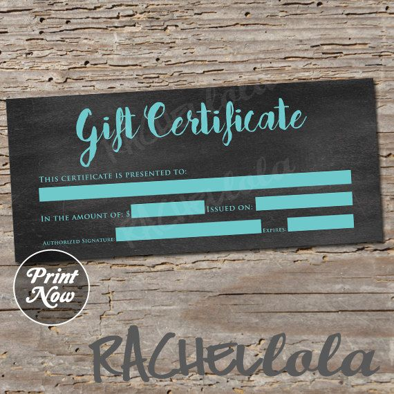 68 best gift certificate downloads images on Pinterest Gift - best of photographer gift certificate template