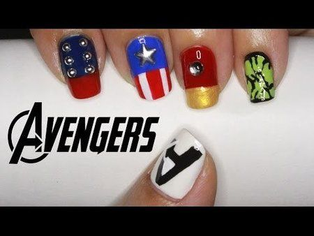 The Avengers Nail Art  #nailart - bellashoot.com