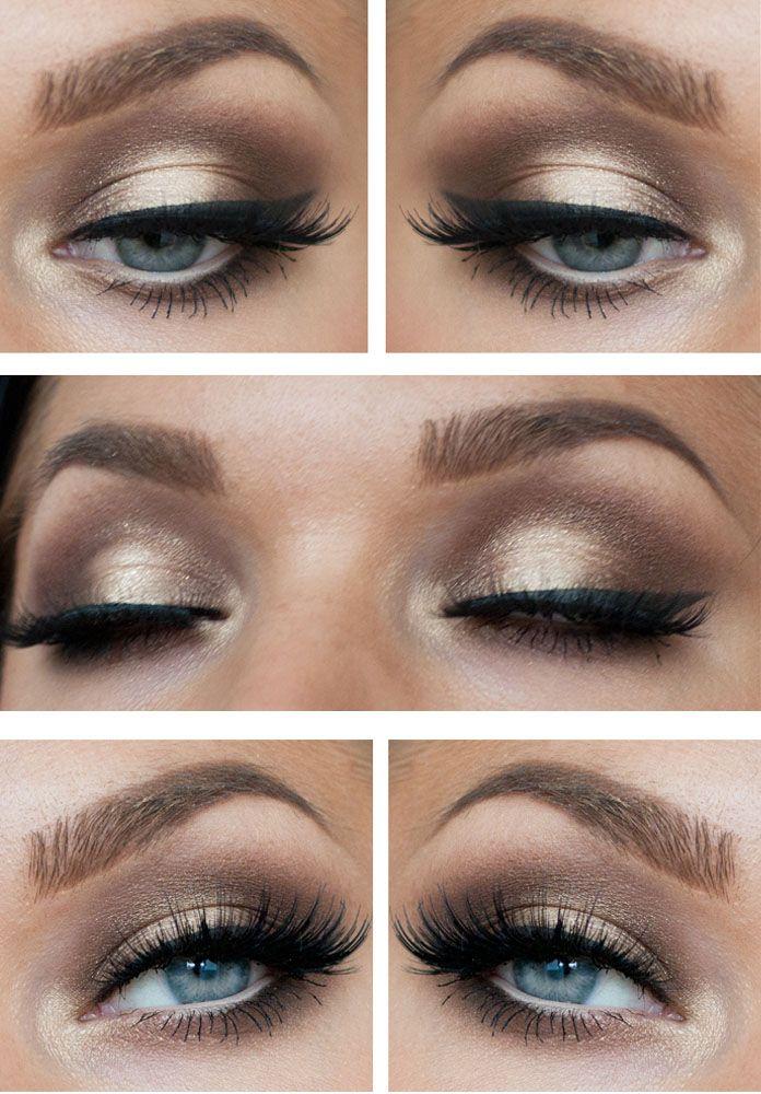Elegant Gold Smoky Eyes