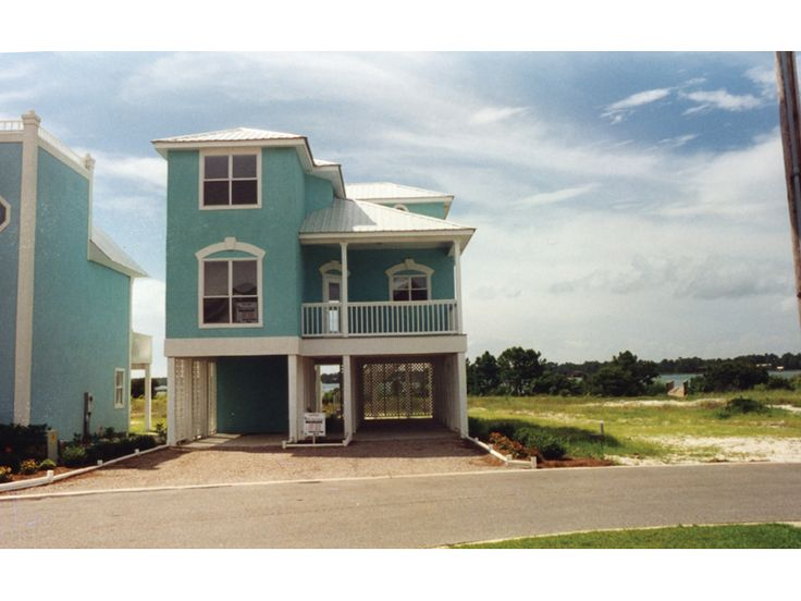 ordinary elevated beach house plans #5: Southern House Plan Front of Home for Home Plan also known as the  Oglethorpe Raised Beach Home from House Plans and More.