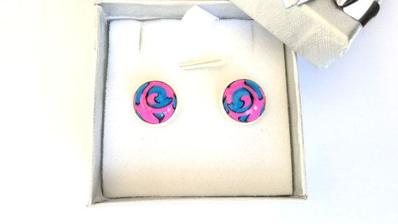 Stud Earrings Polymer Clay Earrings by MACRANI on Etsy