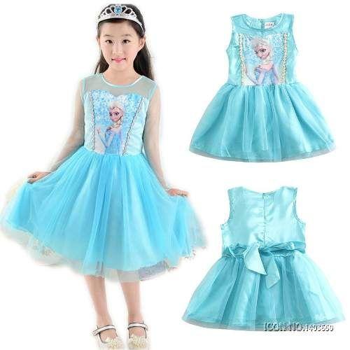 0347f06609557 Vestido Frozen Elsa Disfraz Niña Tutu Disney Los Mejores - $ 70.000 en  Mercado Libre