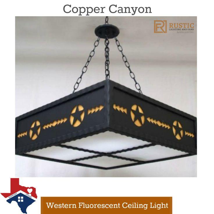 Copper Canyon Western Ceiling Light #CountryKitchen #HurricaneHarvey  sc 1 st  Pinterest & 7 best Western Kitchen Lighting images on Pinterest | Kitchen ...