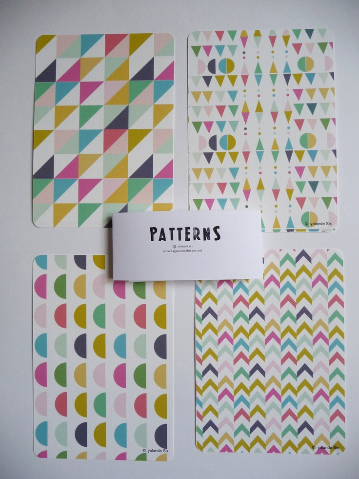 Cards Chevron Geometric and colors print por mademoiselleyo