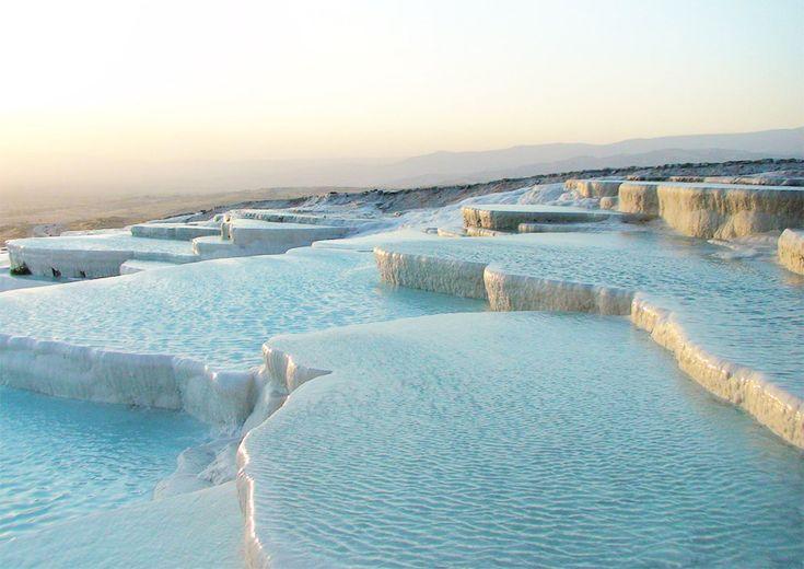 Cotton Castle, Turkey.Pamukkale Turkey, Nature Wonder, Pamukk Turkey, Castles, Travertine, Amazing Places, Travel, Pools, Hot Spring