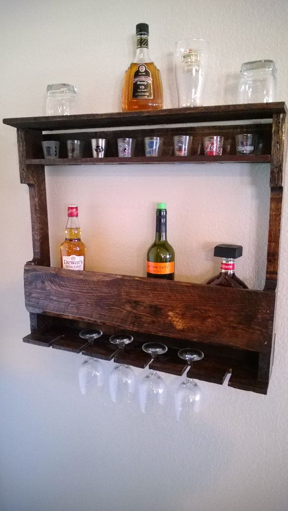 Hybrid of this. No wine glasses. Do inside shelf for shot glasses and top shelf for cocktail glasses