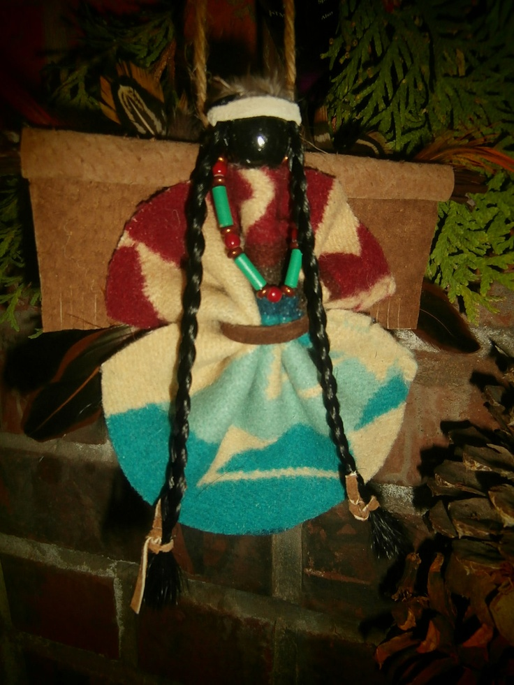 """Large Native American / Indian Christmas Holiday Angel Ornament one-of-a-kind design - Pendleton 6""""x6"""". $15.00, via Etsy."""