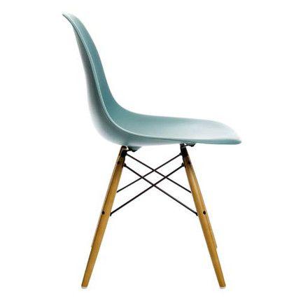 vitra eames plastic side chair dsw h cm ahorn gelblich wei filzgleiter wei hartboden