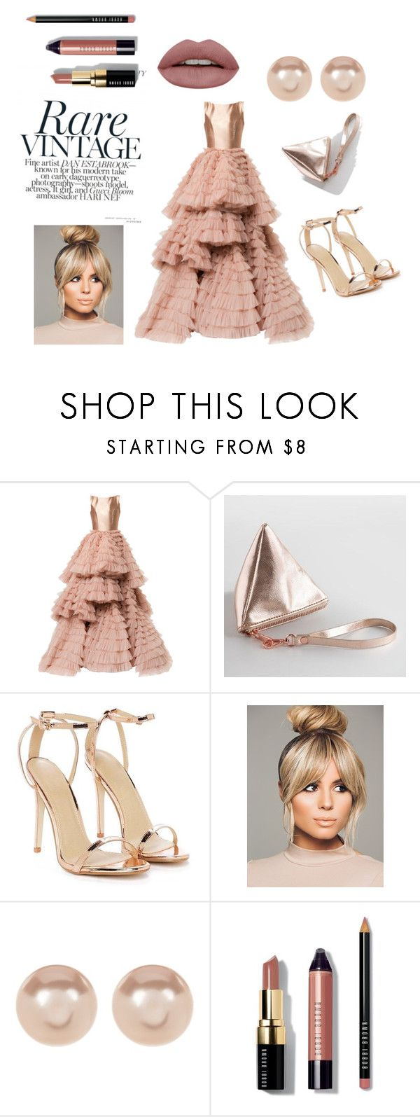 """Gown dresses"" by miloni-jhaveri ❤ liked on Polyvore featuring Isabel Sanchis, Cost Plus World Market, Nasty Gal, Nordstrom Rack and Bobbi Brown Cosmetics"