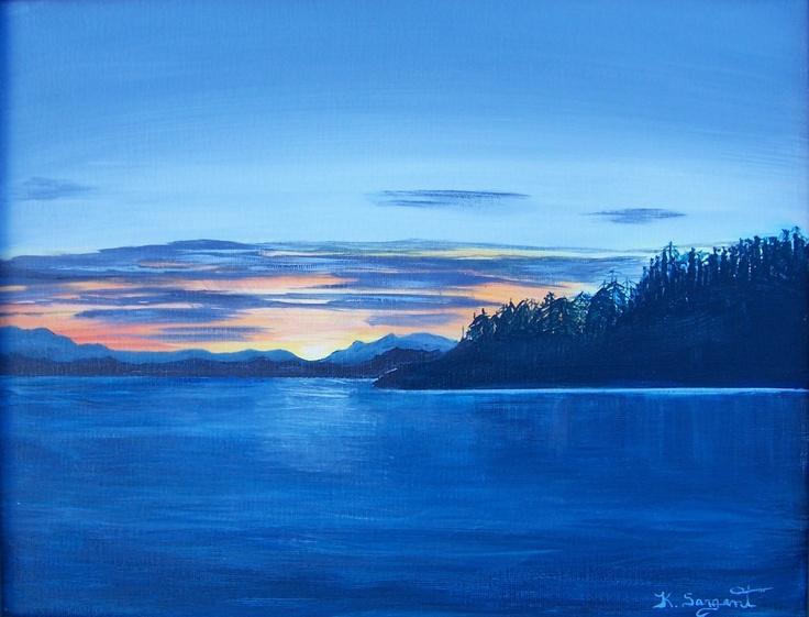 Evening Calm 11x14 Acrylic on Canvas