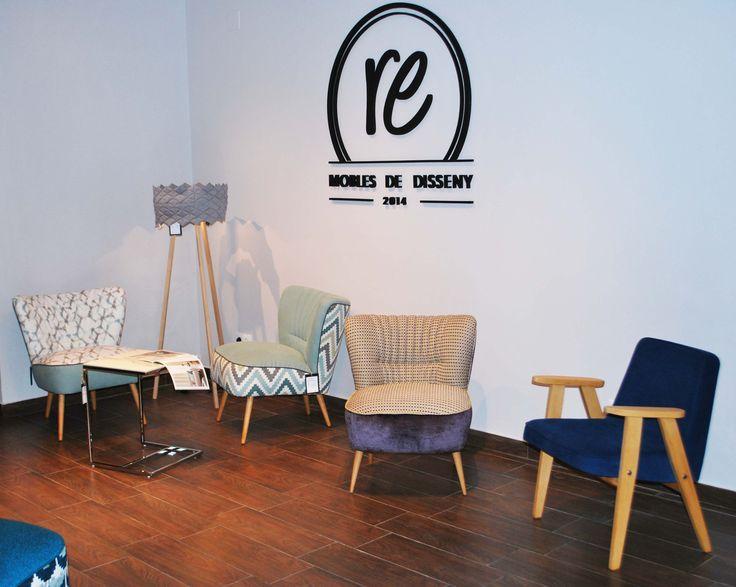 #butaca #diseño #decoracion #interiores #muebles Barcelona #vintage # años 60 #retro #tienda de muebles #cojines #lamparas #mesa de cafe