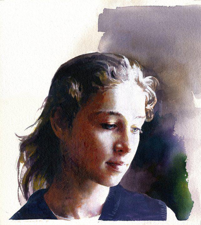 Célèbre 293 best Portraits Watercolor images on Pinterest | Watercolor  VN48