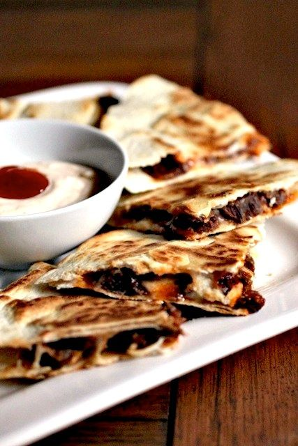"""Brie and Brisket Quesadillas  source: Rebecca Rather, The Pastry Queen  