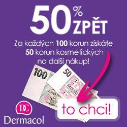 Akce #bankovka je zase tady! Získejte 50% zpět na váš nákup kosmetiky #Dermacol v prodejnách #Palladium a #Quadrio. Za každých utracených 100 Kč získáte 50 Kč kosmetických na příští nákup. #DermacolCZSK #Praha #Kosmetika #Sleva #DermacolCZ #DermacolOfficial