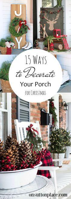 Porch Decor, Porch and Patio, Christmas Curb Appeal, Holiday Porch Ideas, Christmas Porch Decoration, Popular Pin, How to Decorate Your Porch, Christmas Porch
