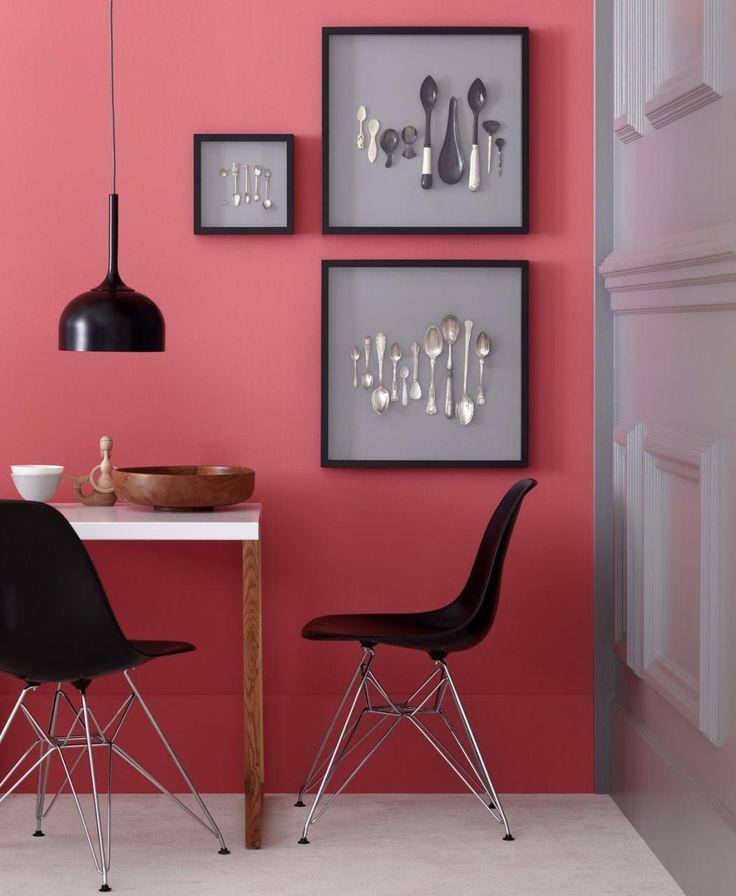 rote wand esszimmer – timeschool, Wohnzimmer design