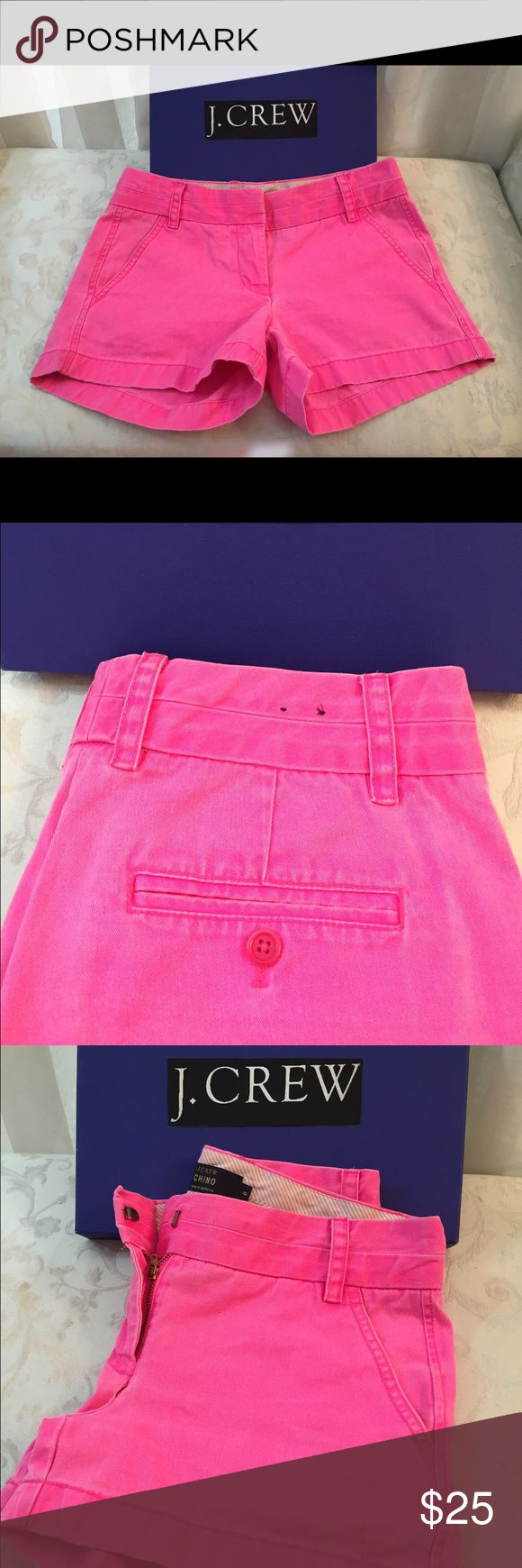 """J Crew """"Chino """" short J crew shot, hot pink, very cute, new condition, never used. j crew Shorts Jean Shorts"""