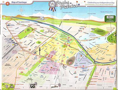 Mapa Santiago do Chile