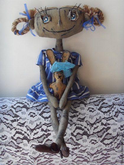 Чердачная кукла Нюра. Текстиль.