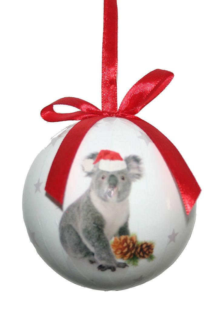 KOALA http://www.christmascomplete.com.au/Australian-Baubles-8cm-Set-7-Second-Edition-_p_588.html