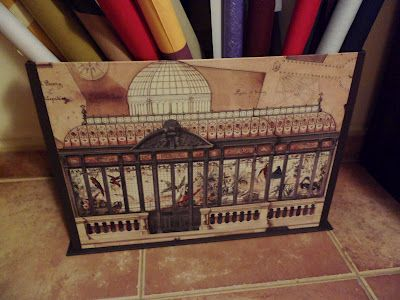 Caja para guardar rollos de tela