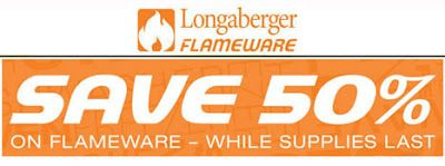 Now is the time to buy and save 50%!! Longaberger Flameware is the healthiest cookware for your family! Handcrafted with 100 percent natural, non-reactive ceramics, so your family tastes nothing but the food you prepared. No PFOAs (Perfluorooctanoic acid, used to make non-stick cookware), lead, aluminum and heavy metals.  Designed for use on stovetop, grill, broiler, dishwasher, microwave, fridge, freezer and tabletop!
