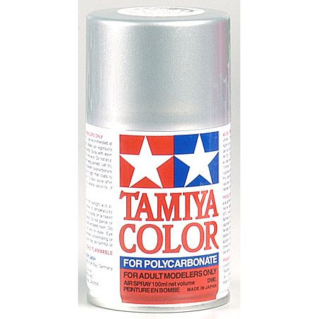 Tamiya 86041 Tamiya PS-41 Polycarb Spray Bright Silver 3 oz