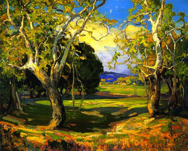 """Franz Arthur Bischoff (American, 1864 - 1929), Early Spring, n.d., oil on canvas, 24"""" x 34"""""""