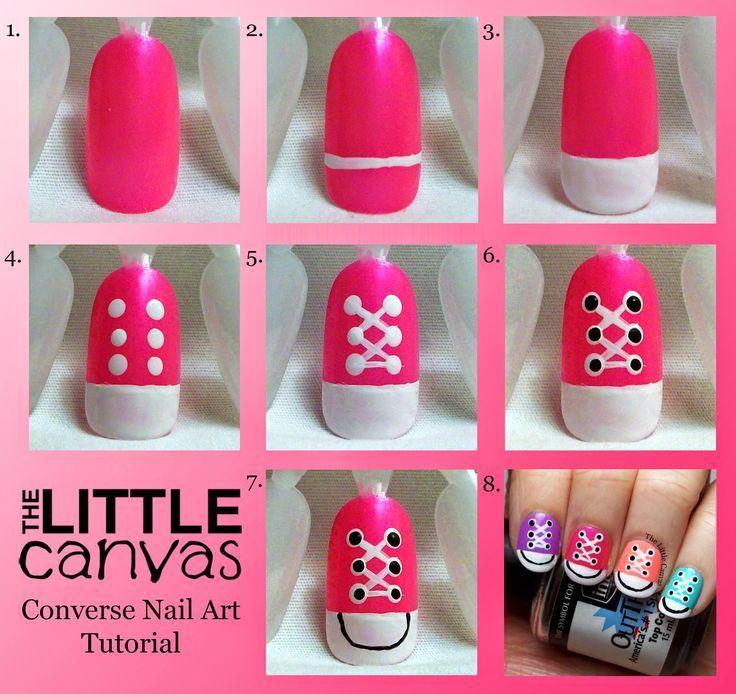 Converse Nail Art Step By Step ~ Entertainment News, Photos ...  http://miascollection.com