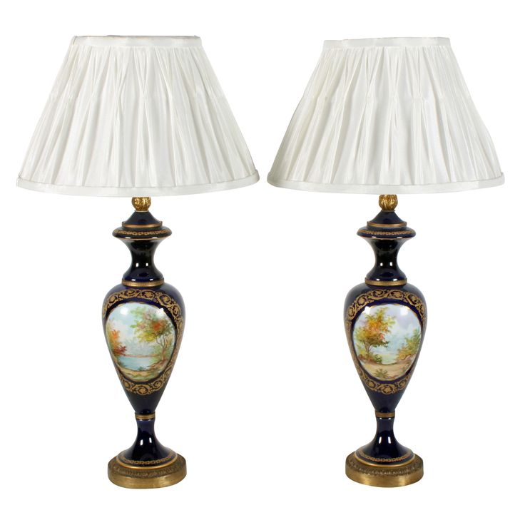 Pair of Sévres Style Table Lamps