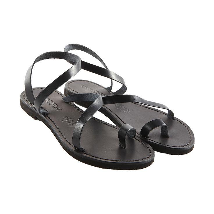 Sandalo amore nero da donna
