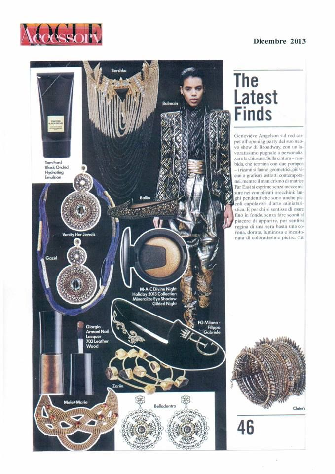 """Our model """"Philip"""" on Vogue Accessory … page 46 !!!"""