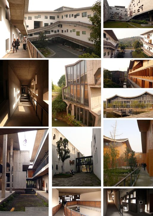 Culturally sensitive and contextual architecture by architect Wang Shu. Xiangshan Campus, China Academy of Art, Phase II (2004-2007) / Hangzhou, China.