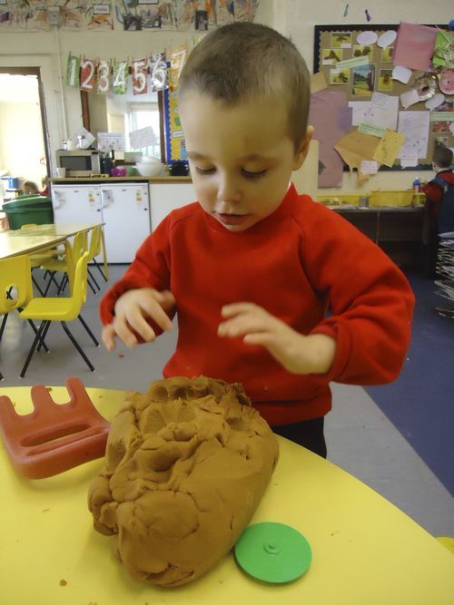 Dough gym - great post about how using playdough helps children learn fine motor skills needed for writing.