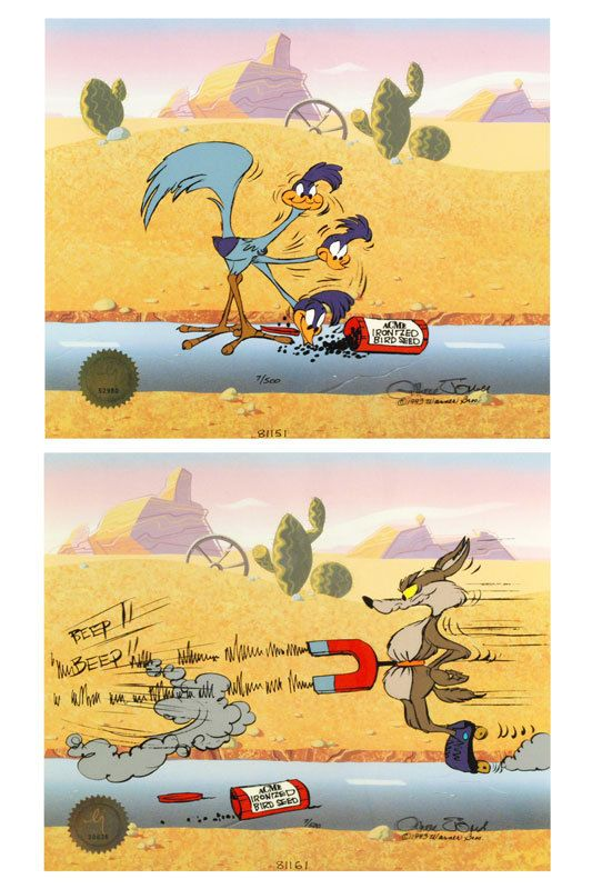 Chuck Jones Road Runner And Coyote: Acme Birdseed, Animation Cel