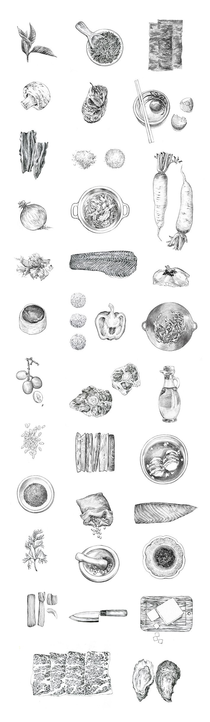Food Pencilled on Behance