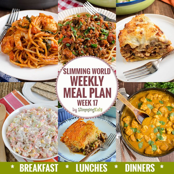 Slimming Eats Weekly Meal Plan - Week 17 - Slimming World - taking the work out of meal planning, so you can just cook and enjoy the food.