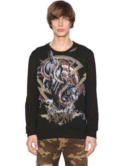 Panther Print Cotton Jersey Sweatshirt Balmain  Source: http://www.closetonthego.com/e-shop-product/238340/panther-print-cotton-jersey-sweatshirt/ © Closet On The Go