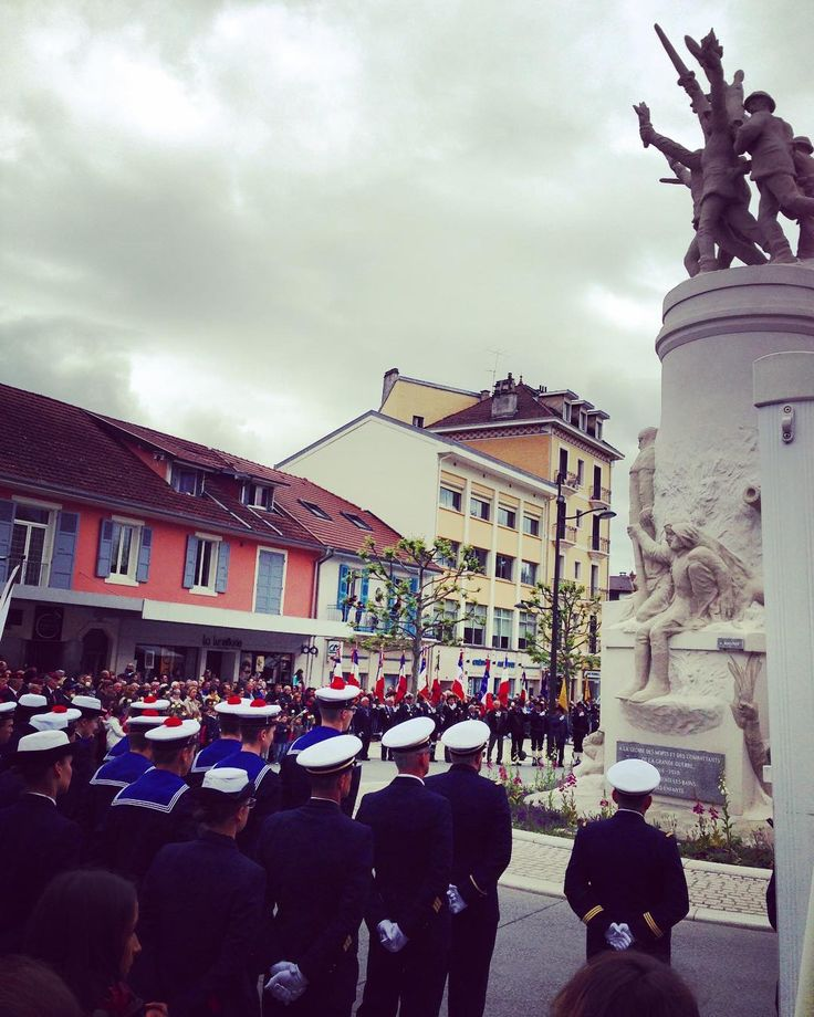 Yesterday #may8 was Victory in Europe day #beautiful & #touching ceremony in #aixlesbains marks the end of #ww2 in #europe I'm a huge war nerd and love #history had to attend #culture #historic #travel #instafrance #instadaily #France
