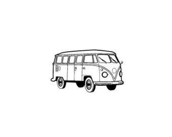 VW volkswagen bus Rubberstempel kombi