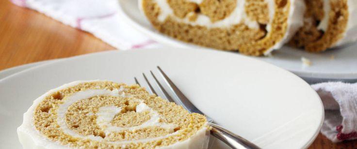 We added canned pumpkin to Betty Crocker SuperMoist yellow cake mix to make our grown-up Bourbon Vanilla Pumpkin roll.