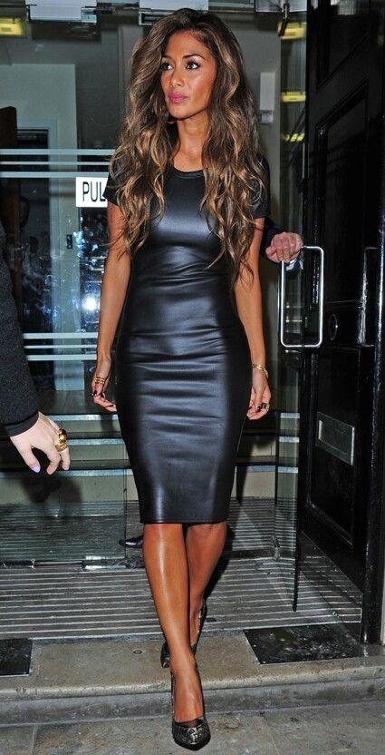 Nicole Scherzinger Leather DressesLeather SkirtsFashion