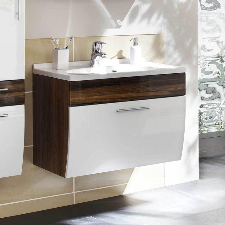 Die besten 25+ Waschbeckenunterschrank weiß hochglanz Ideen auf - badezimmer unterschrank mit waschbecken