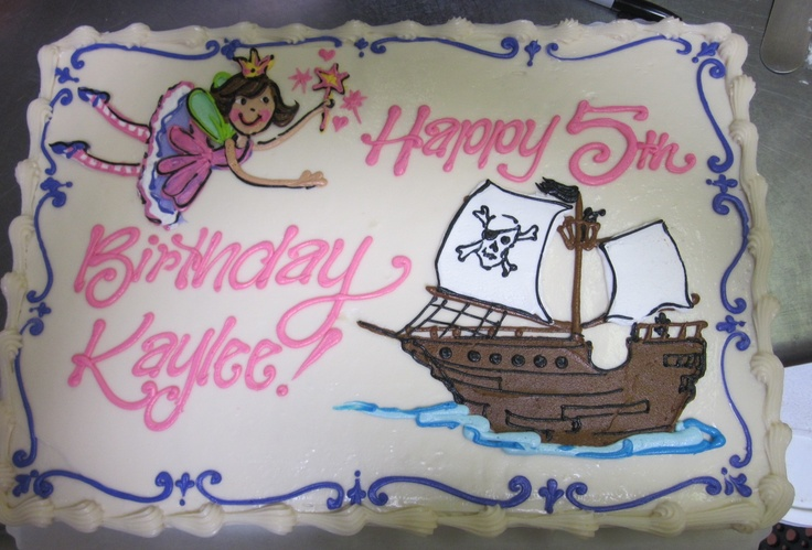 Fairy Girl Pirate Ship cake #icingonthecakelosgatos