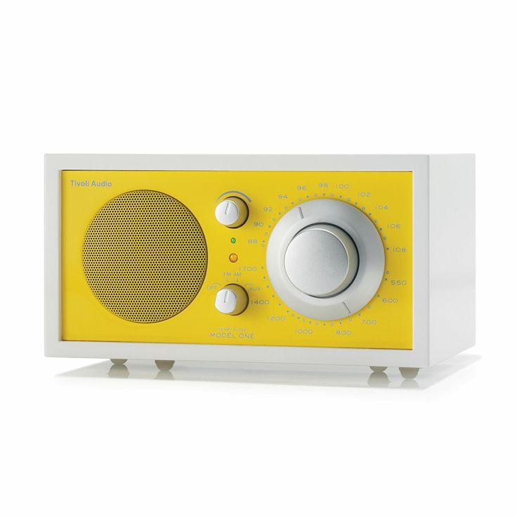 Tivoli Tischradio Model One White Line, weiß/sonnengelb