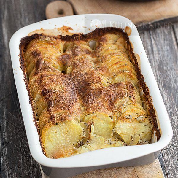 Ziemniaki zapiekane z ziołami i serkiem mascarpone