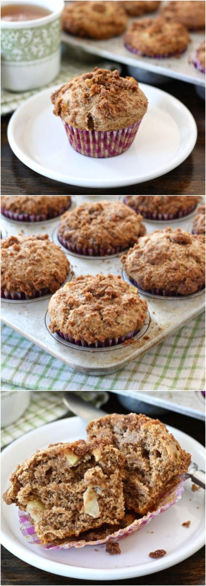 Apple Cinnamon Crumb Muffins on twopeasandtheirpod.com Love these easy fall muffins! #recipe #apple