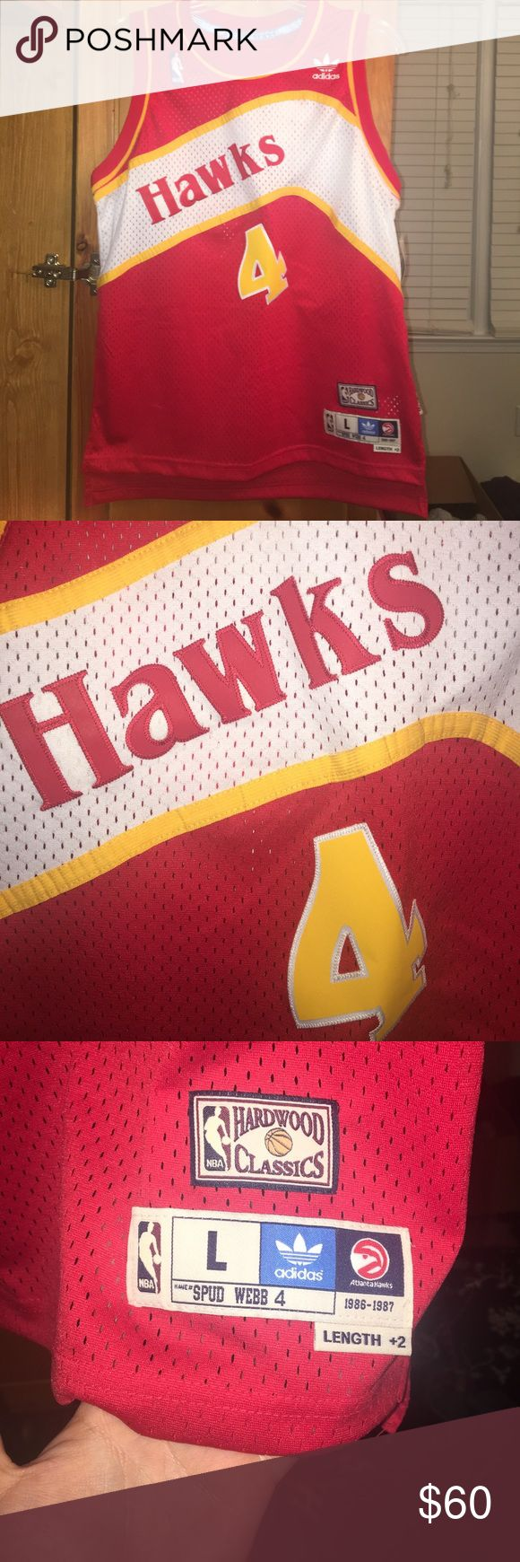 Atlanta Hawks Spud Webb Jersey Youth L Brand new Spud Webb Atlanta Hawks throwback jersey. Fits like an adult small/ medium and has +2 on the length! Adidas Other